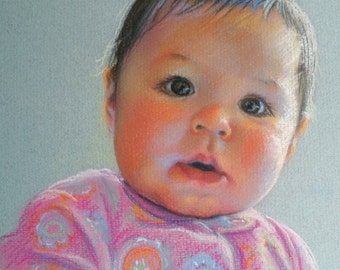 "11x14"" Custom Portrait Painting Pastel Children Art"