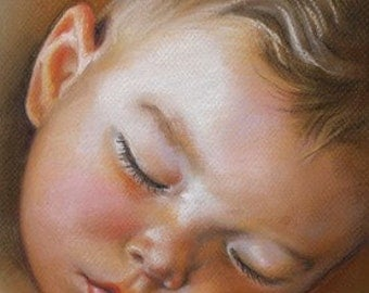 "11x14"" Custom Children Portraits Commission Pastel Paintings From Your Photo"