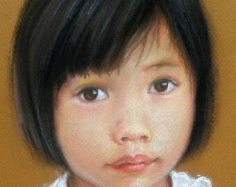 Custom Pastel Portrait Painting of a Child or Adult 11x14""