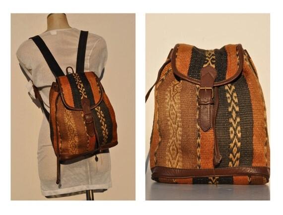 vintage backpack back pack rucksack ethnic native american
