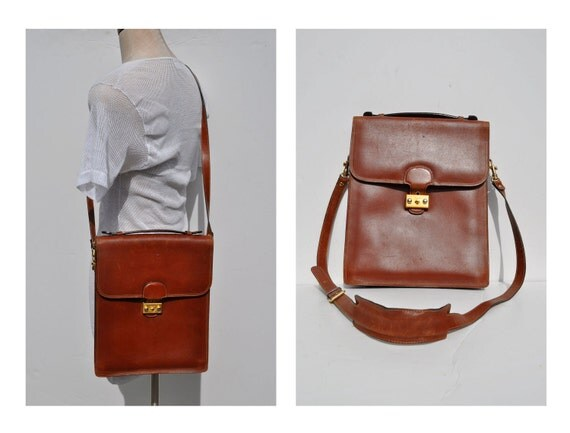 vintage leather bag ipad case leather cross body bag leather purse BALLY