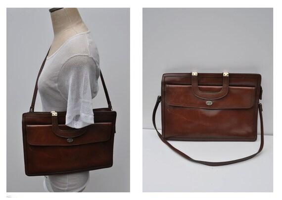 vintage leather attache vintage leather portfolio vintage leather bag messenger bag.