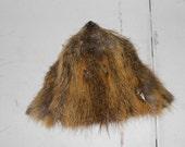 Salvaged Jumbo Nutria Face or Mask- Real Fur