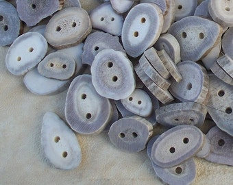 Small Deer Antler Buttons - Lot of 25 Pieces