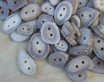 Extra Large Deer Antler Buttons  Lot of 10 Pieces