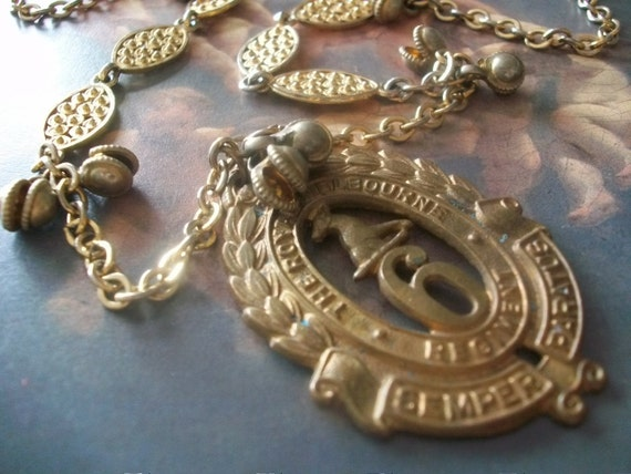 Waltzing Matilda - Vintage Royal Melbourne Medal Assemblage Necklace, Military Fashion