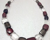 Red, White & Black Beaded Necklace