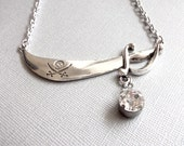 Silver Pirate Sword Chain Necklace