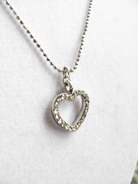 One Jeweled Heart Necklace