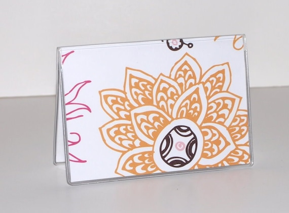 Card Case / Mini Wallet - Indian Flowers
