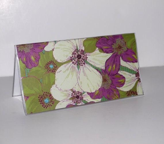 Checkbook Cover - Gardenias