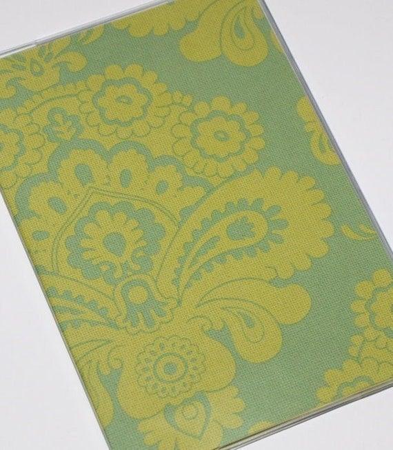 Passport Cover  - French Wallpaper - Green