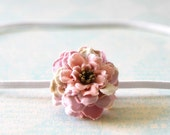 Pink Blush Rosebud headband, baby headband, toddler headband, adult headband, infant headband, photo prop