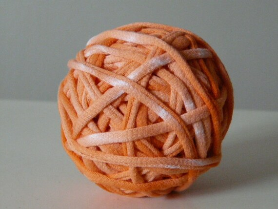 Recycled Tshirt Yarn - Orange Cream Tie Dye -  28 yds - RT311