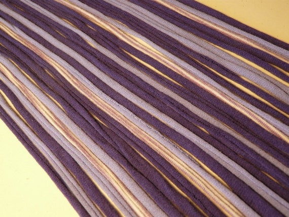 Recycled T shirt Yarn Strips-Mixed Purples- Rt559