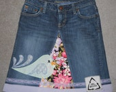 Partridge Bird Jean Skirt size 2R, 29 inch waist