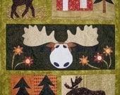 Moose Crossing Quilt Pattern With Buttons & Free shipping Included