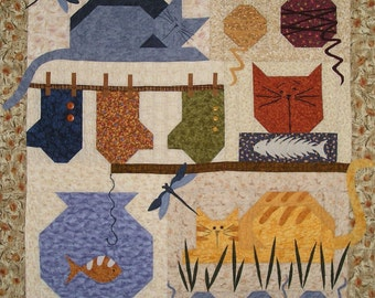 A Cats Life Quilt pattern With FREE Buttons Included