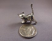 Tiny Miniature Solid Lead-Free Pewter Kitten