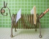 Mid Century Modern Brass Animal Letter Sorter