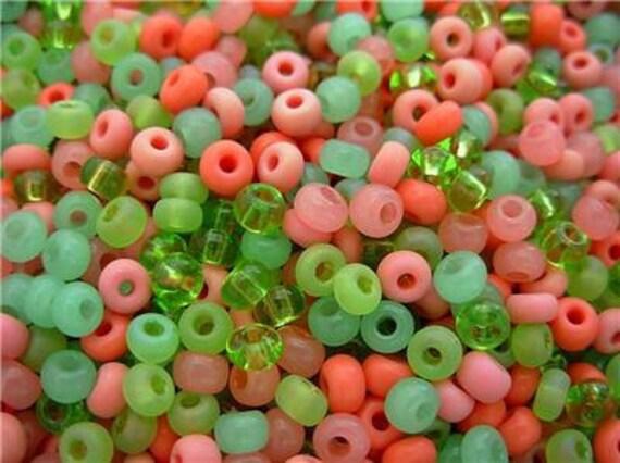 6/0 Czech Glass Seed Beads- Tutti Frutti Mix (20g)