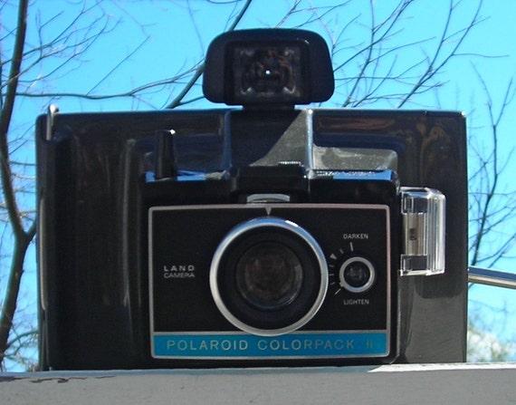 vintage polaroid land camera colorpack ii. Black Bedroom Furniture Sets. Home Design Ideas