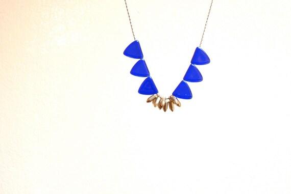 raise your flags (cobalt blue & brass) - OOAK