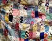 72 x 72 Rectanglular Feedsack Quilt Top