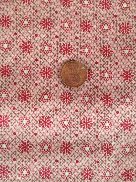 SALE-20% - Double Pink Cinnamon Pink 1920's cotton