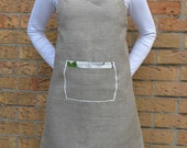 Rosemary  Linen - adult ADJUSTABLE apron