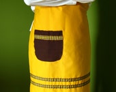 Yellow Apron - full, adjustable, unisex (made to order)