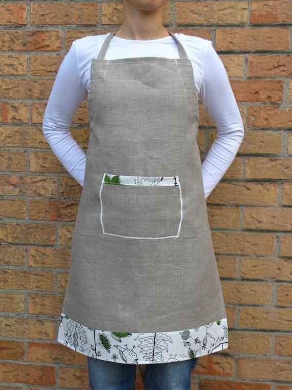 Rosemary  Linen - adult ADJUSTABLE apron