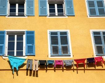 Laundry Day, Fine Art Print, France, Europe