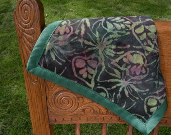 Baby Comfort Silky in Emerald Batik Flannel and Satin