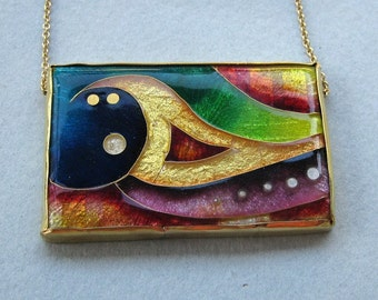 Golden Wave - Cloisonne Enamel Necklace