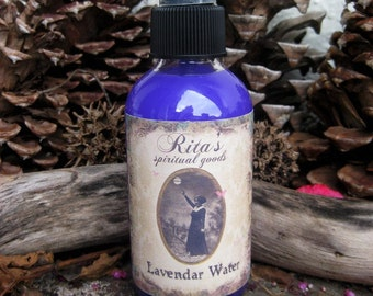 Rita's Lavender Water Spiritual Mist Spray  -  Peace, Meditation, Calm, Relaxation, Love