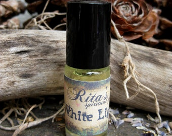 Rita's White Light Hand Brewed Ritual Oil - Pagan, Magic, Hoodoo, Witchcraft