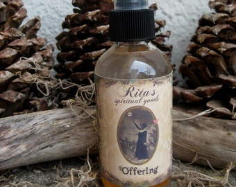 Rita's Offering Spiritual Mist Spray - Thank the Higher Powers for Their Help - Pagan, Magic, Hoodoo, Witchcraft