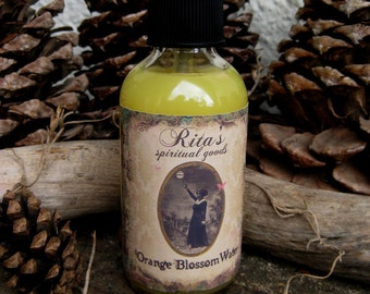 Rita's Orange Blossom Water Spiritual Mist Spray - Happiness - Pagan, Magic, Hoodoo, Witchcraft