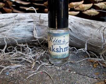 Rita's Lakshmi Hand Brewed Ritual Oil - Wealth, Wisdom, Prosperity, Material and Spiritual