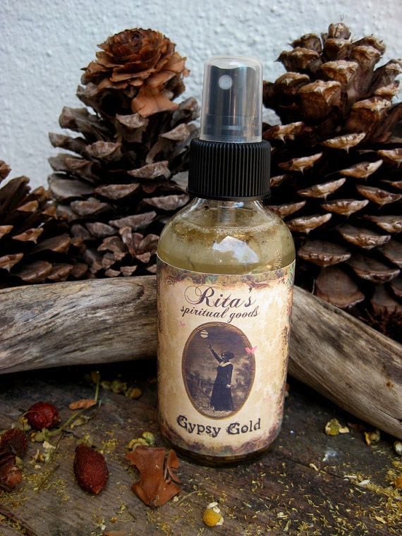Rita's Gypsy Gold Spiritual Mist Spray - Draw in Money from Unexpected Places - Hoodoo, Pagan, Witchcraft