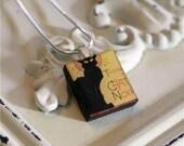 The Black Cat (Le Chat Noir) Scrabble Tile Pendant
