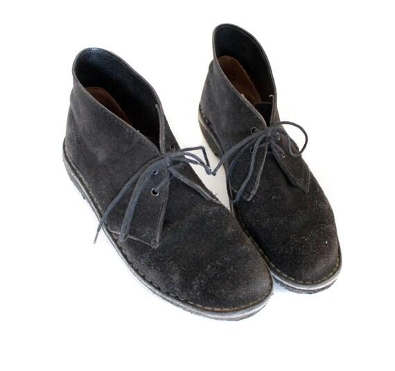 Vintage black suede clarks desert Shoes