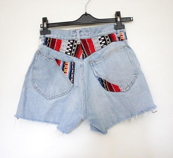 r e s e r v e d for weheartvintageperth ON SALE Vintage shorts / Yokoo denim cut offs / size S