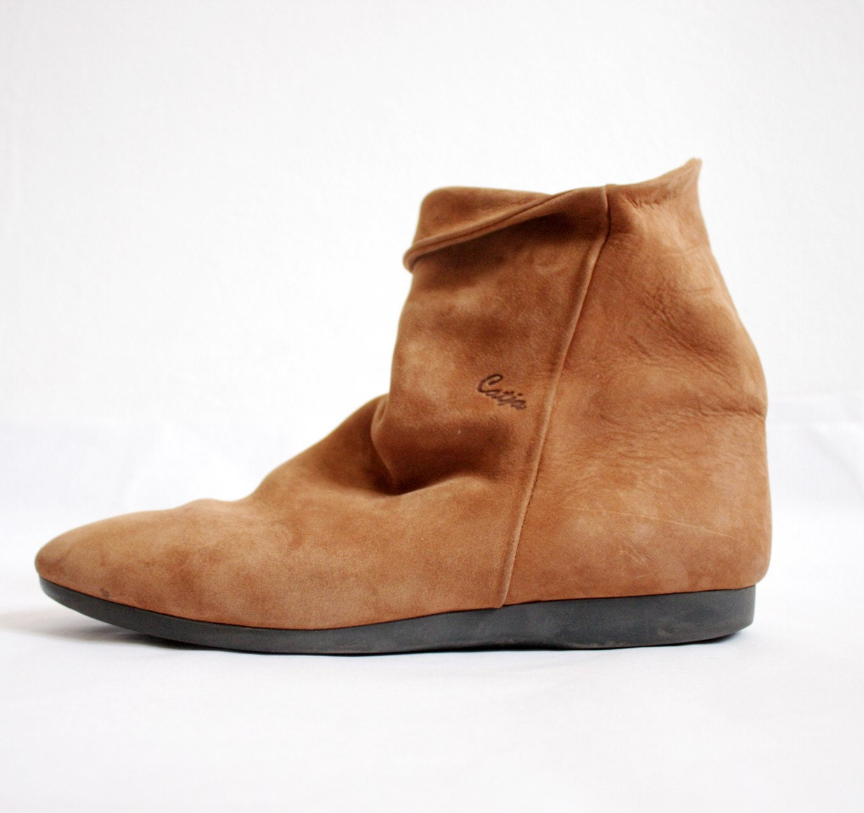 vintage slouch brown suede catja boots 40 9