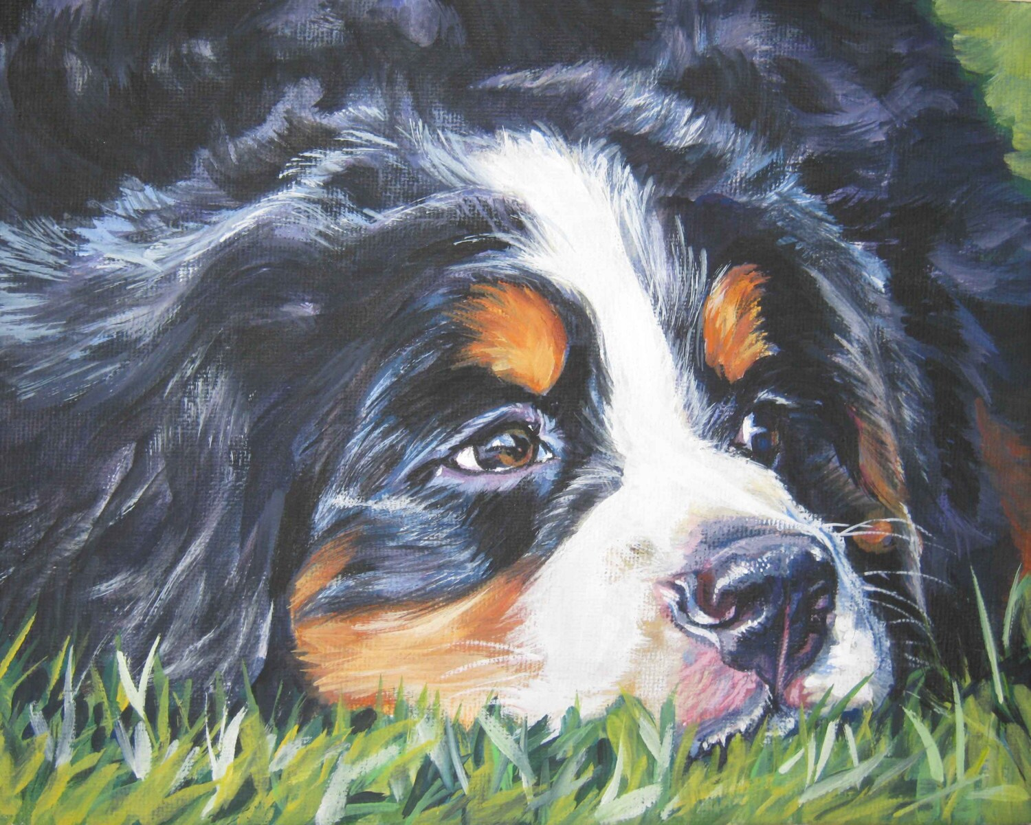 Bernese Mountain Dog Picture Frame