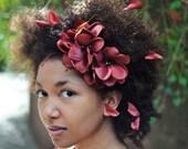 Brown Flower Headband, Handmade Headbands, Flower Headpieces, Marsala Brown, Autumn Floral Crown, Fall Weddings, Fall Accessories