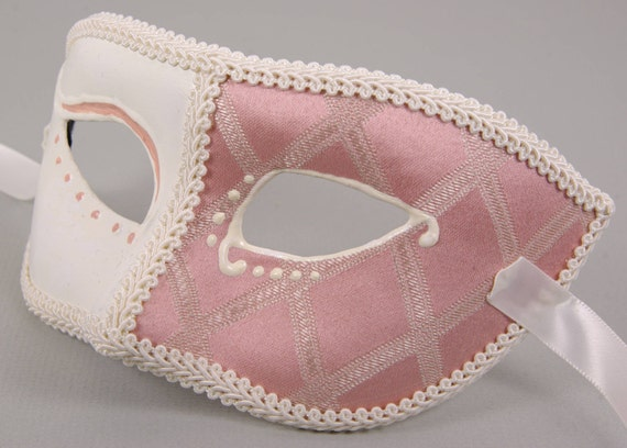 Francese Rosa (French Pink) Mask for Masquerade/Costume/Halloween/Mardi Gras/Wedding/Prom