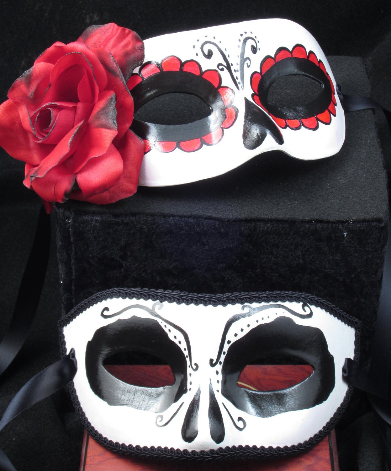 Beloved Masks Day of the Dead male and female paired paper