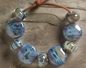 MIDNIGHT WIND BORO Lampwork beads 9